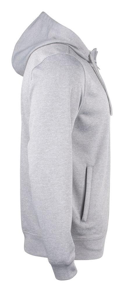 Basic Active Hoody Full Zip gråmelerad