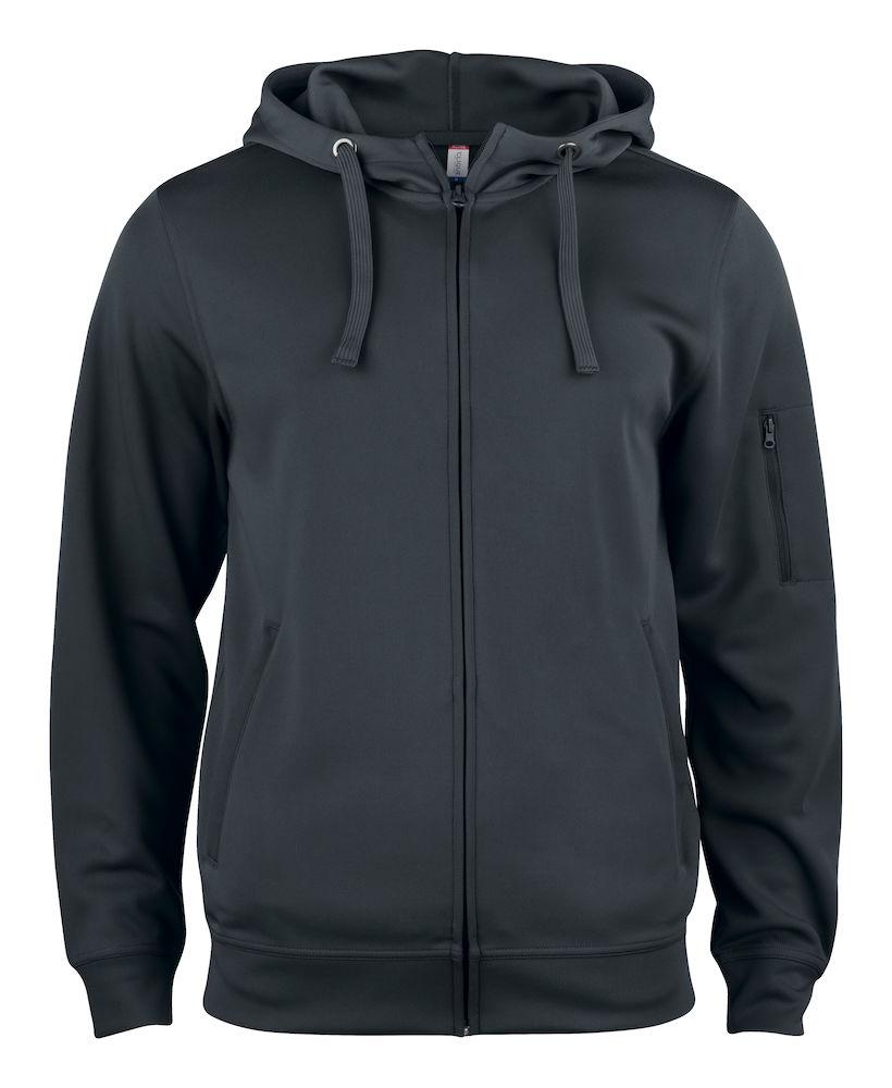 Basic Active Hoody Full Zip svart