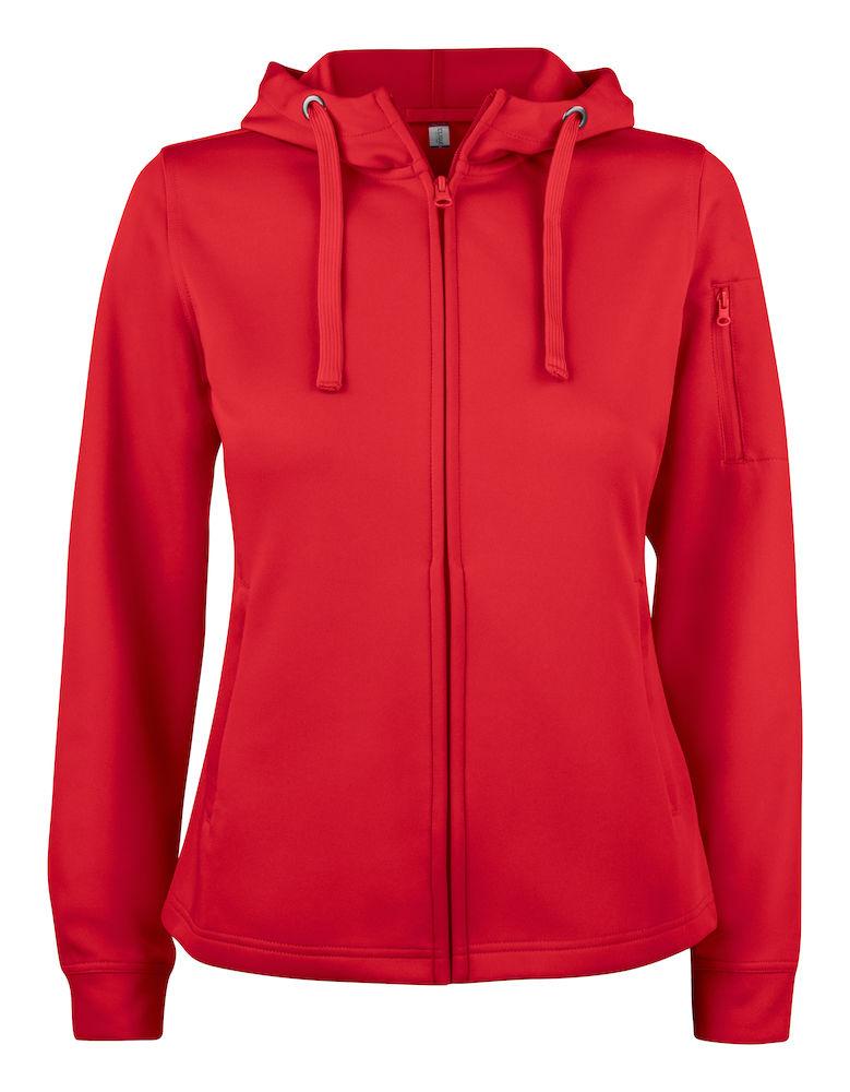 Basic Active Hoody Full Zip Women röd