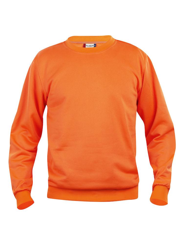 Clique Basic Roundneck visibility orange