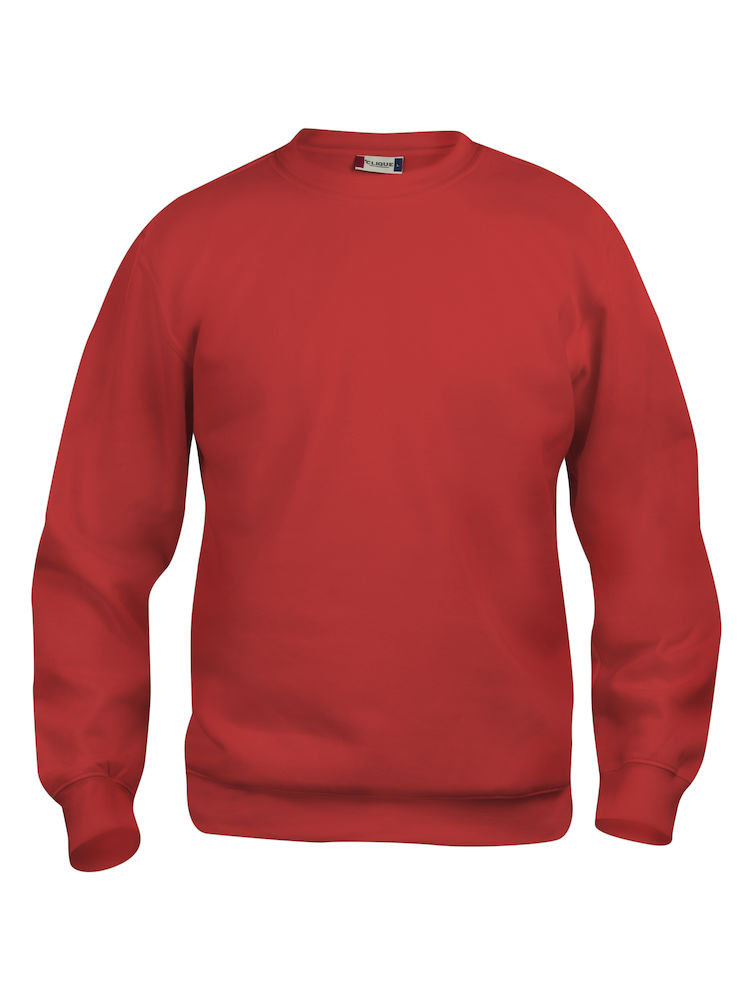 Clique Basic Roundneck röd