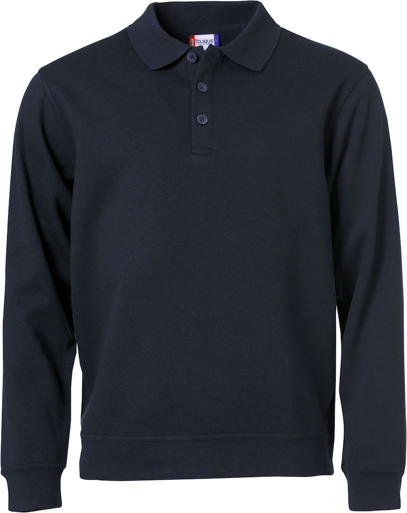 Basic Polo Sweater mörk marin