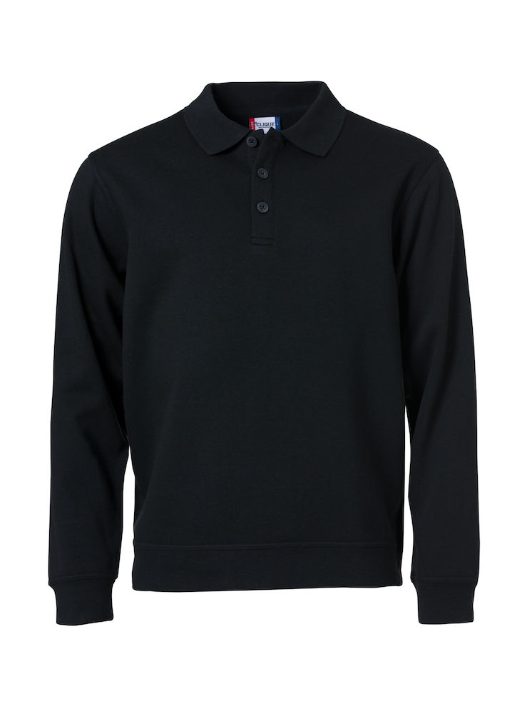 Basic Polo Sweater svart