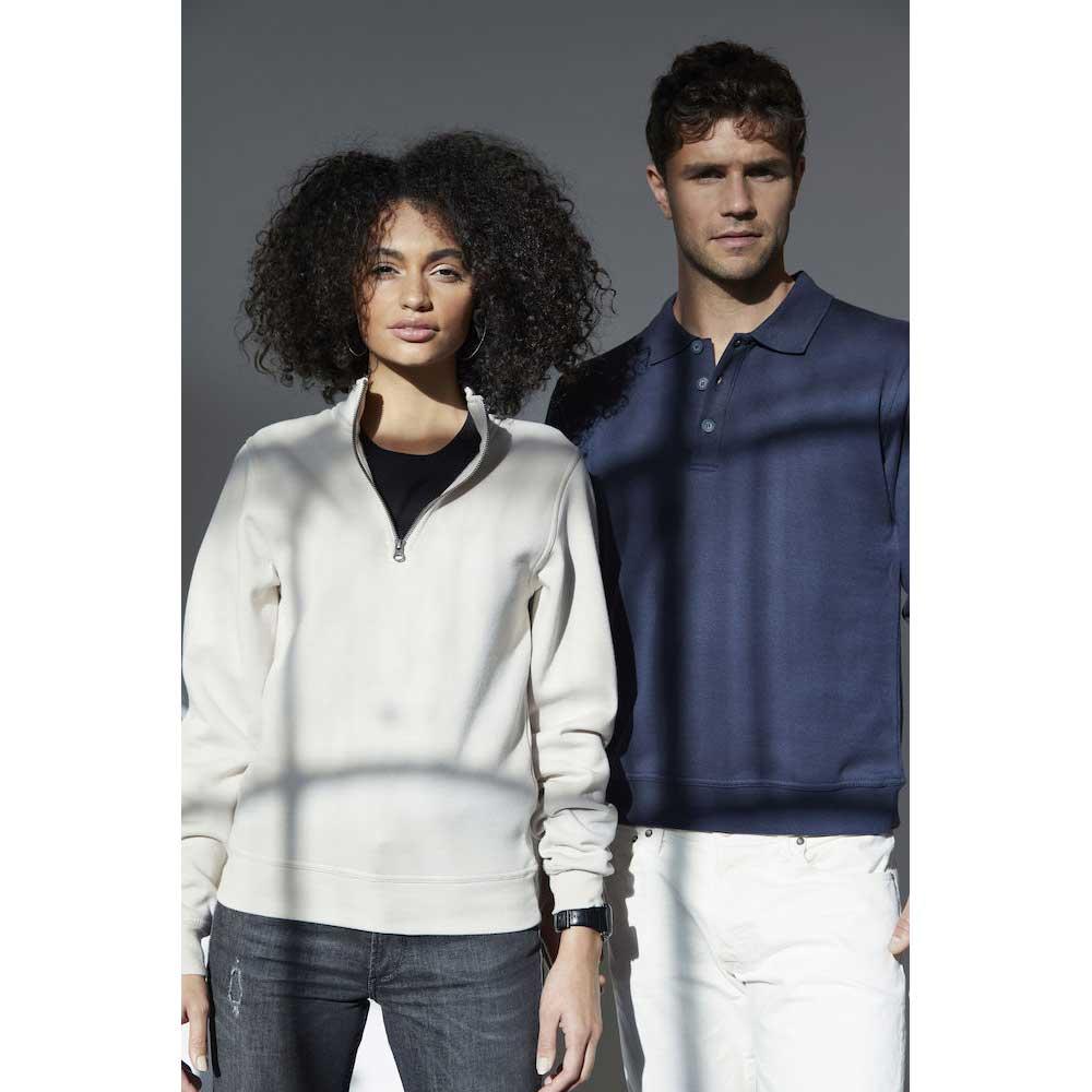 Basic Polo Sweater antracitmelerad