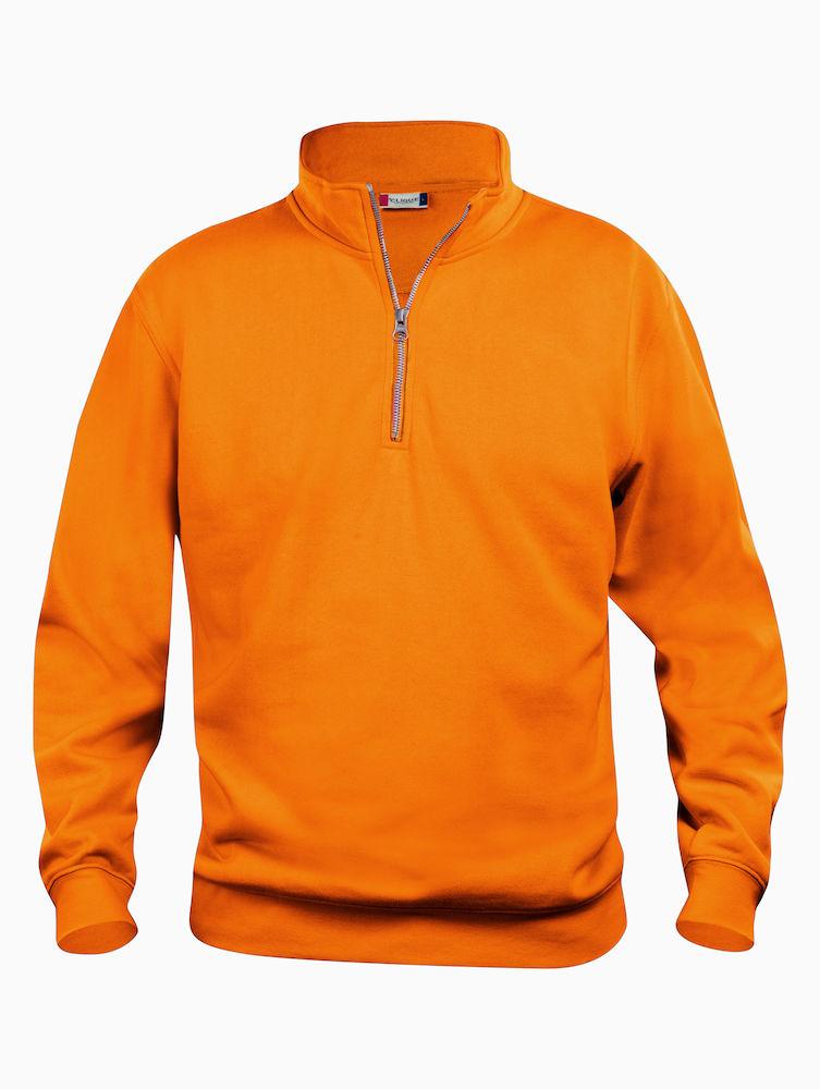Clique Basic Half Zip visibility orange