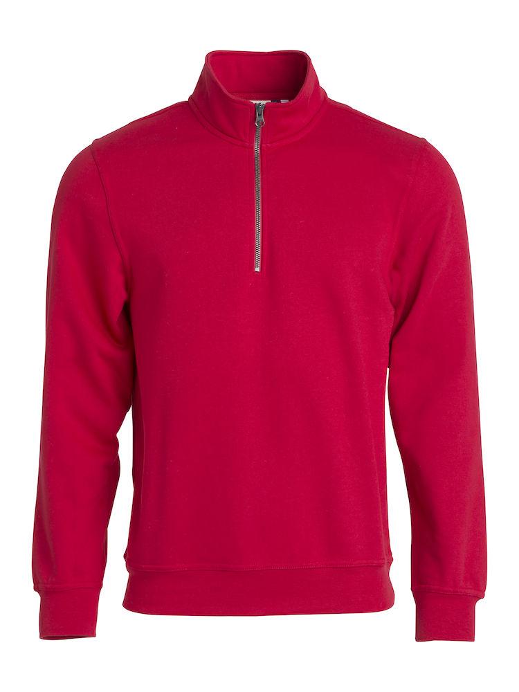 Clique Basic Half Zip röd