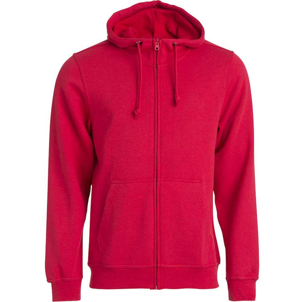 Clique Basic Hoody Full Zip men's röd