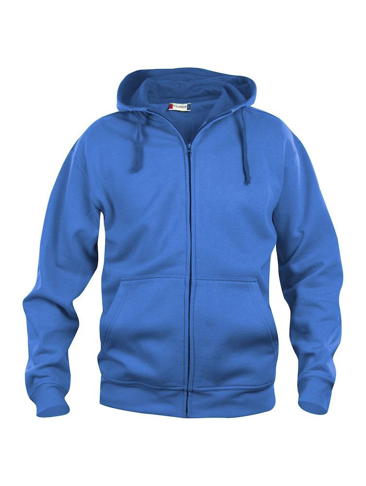 Clique Basic Hoody Full Zip men's royalblå
