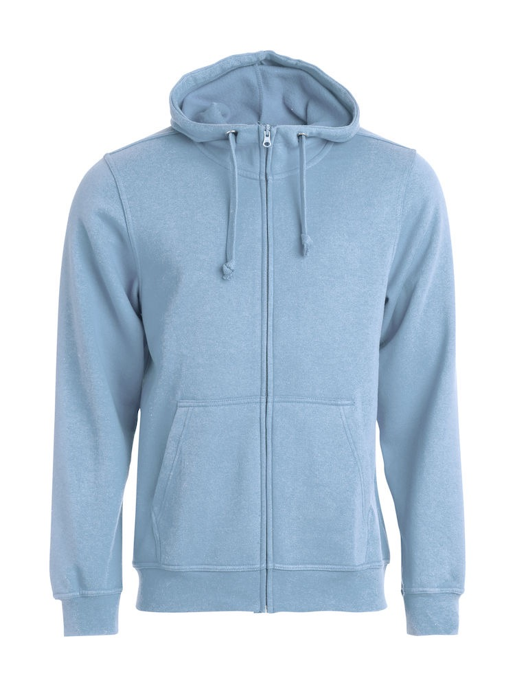 Clique Basic Hoody Full Zip men's ljusblå