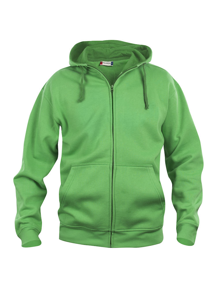 Clique Basic Hoody Full Zip men's apple green