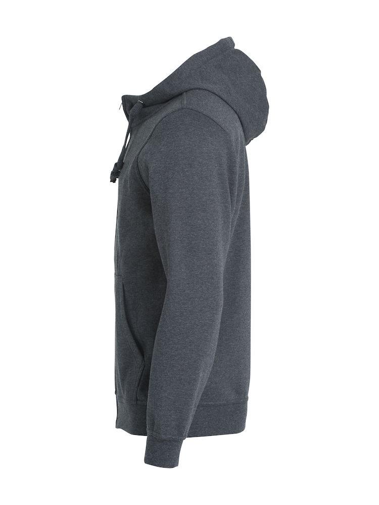 Clique Basic Hoody Full Zip men's antracit melerad