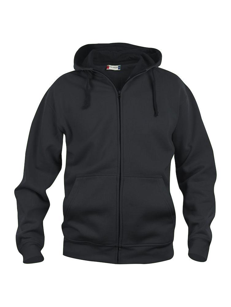 Clique Basic Hoody Full Zip men's svart
