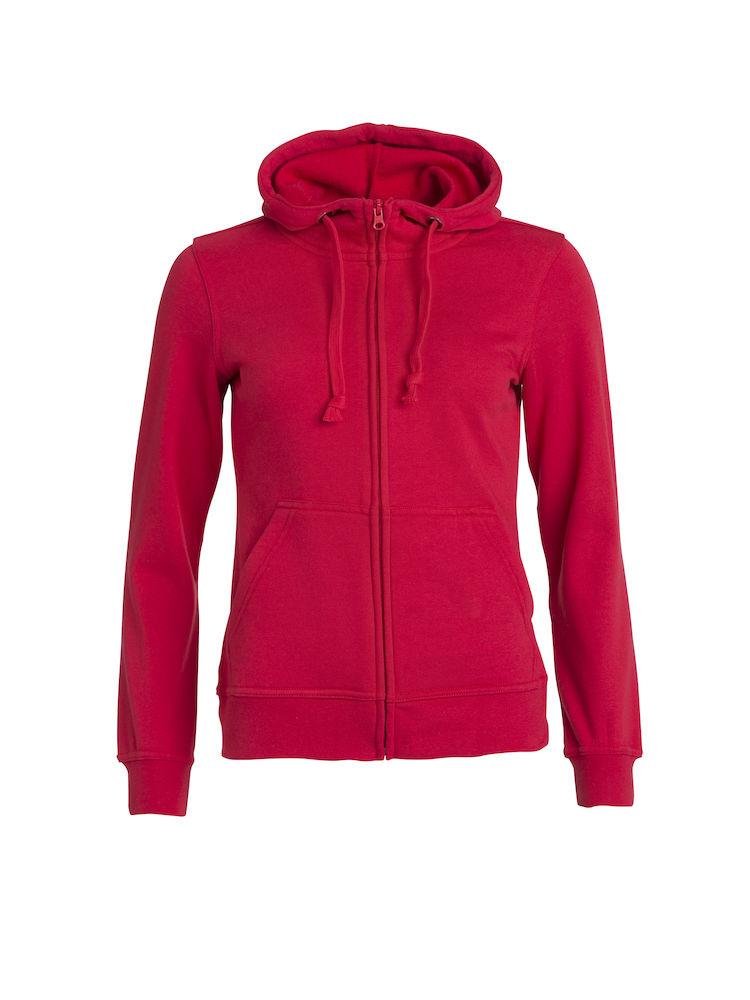 Clique Basic Hoody Full Zip ladies röd