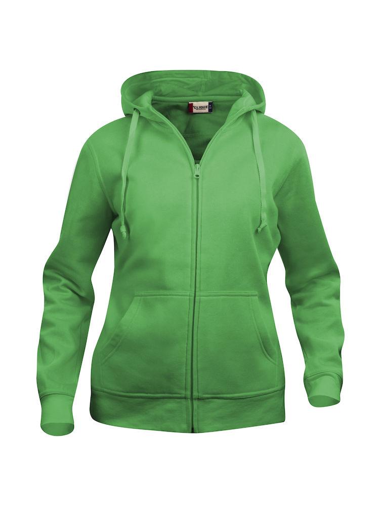 Clique Basic Hoody Full Zip ladies apple green