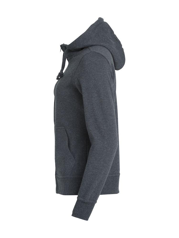 Clique Basic Hoody Full Zip ladies antracitmelerad