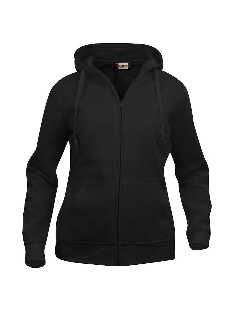 Clique Basic Hoody Full Zip ladies svart