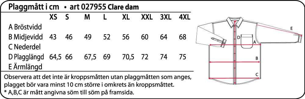 Clare Damskjorta Ljusblå