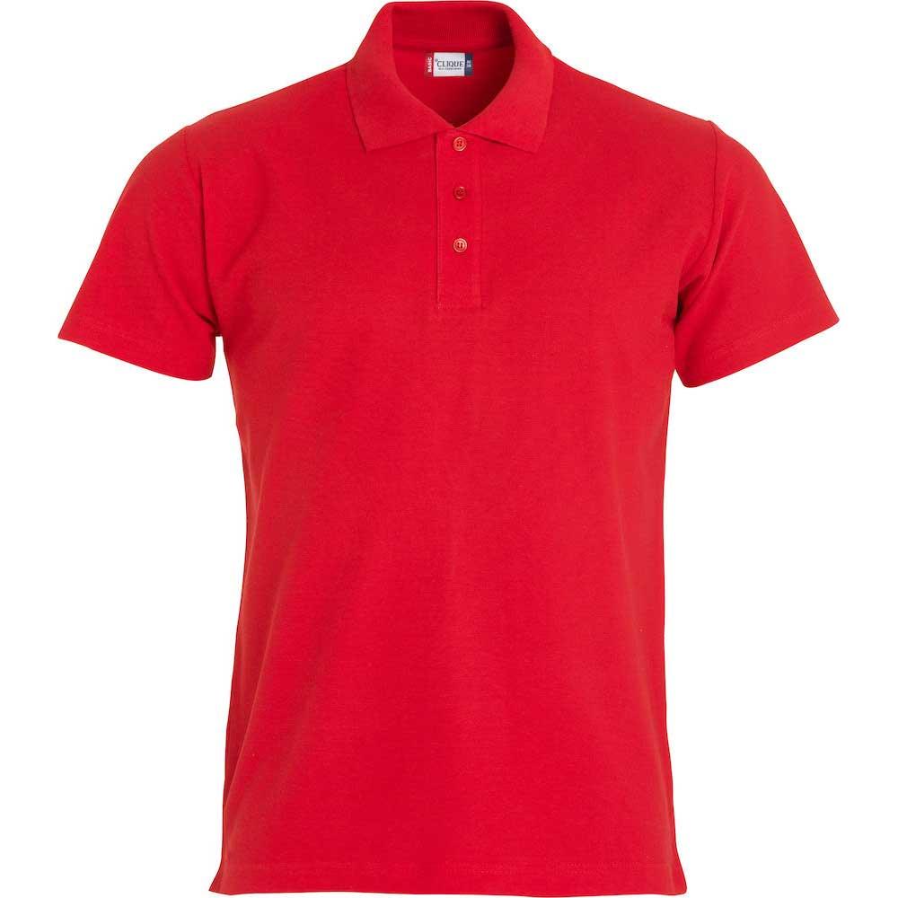 Basic Polo Clique Röd