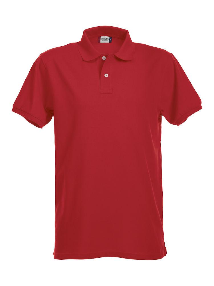 Premium Polo Herr röd