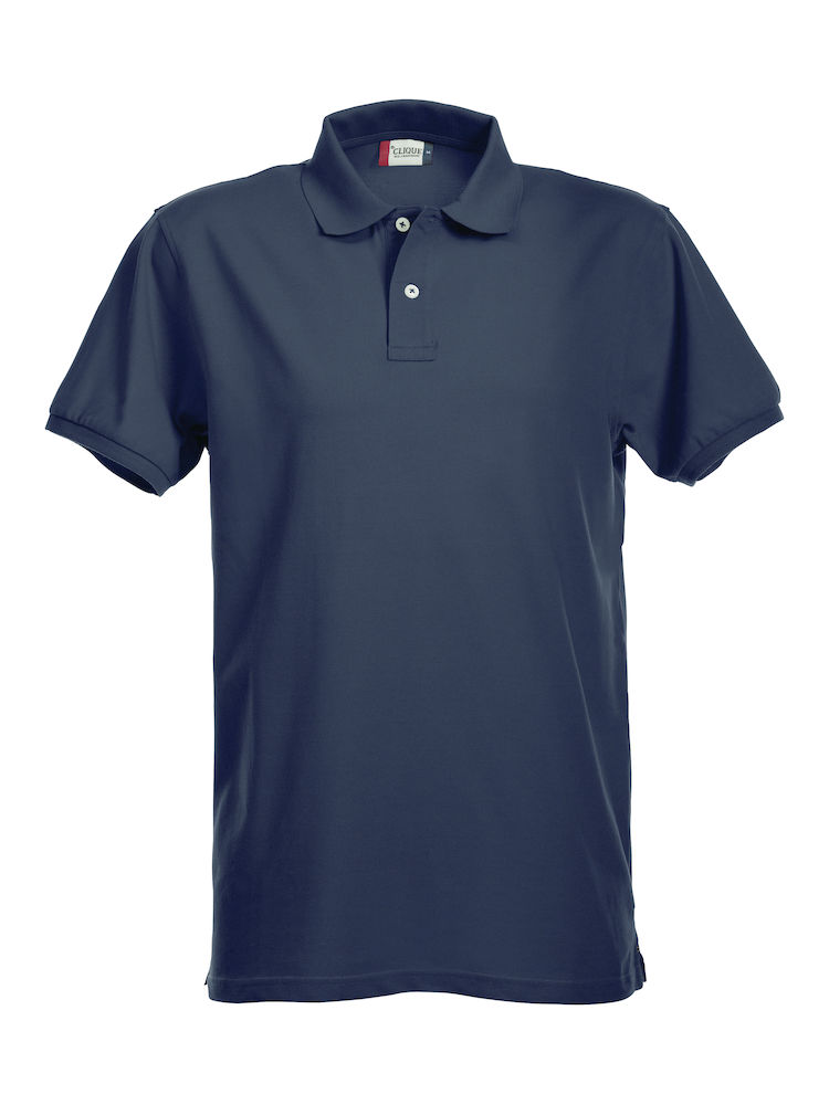Premium Polo Herr mörk marin