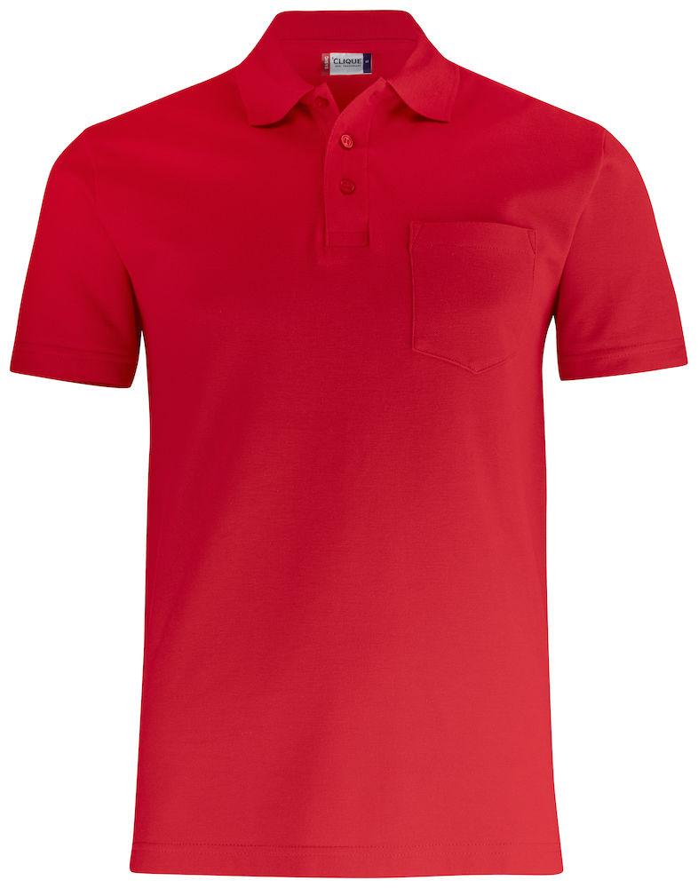Basic Piké med ficka Röd