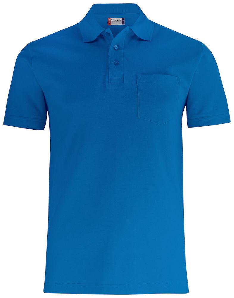 Basic Piké med ficka royalblå