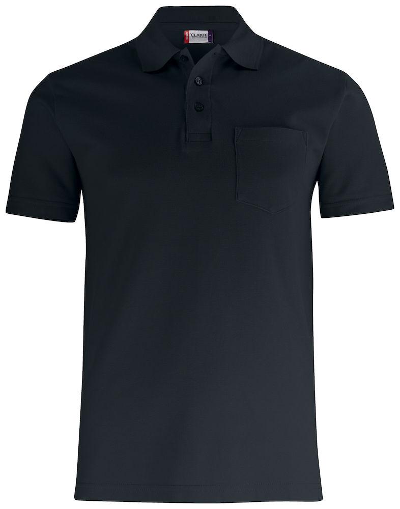 Basic Piké med ficka svart