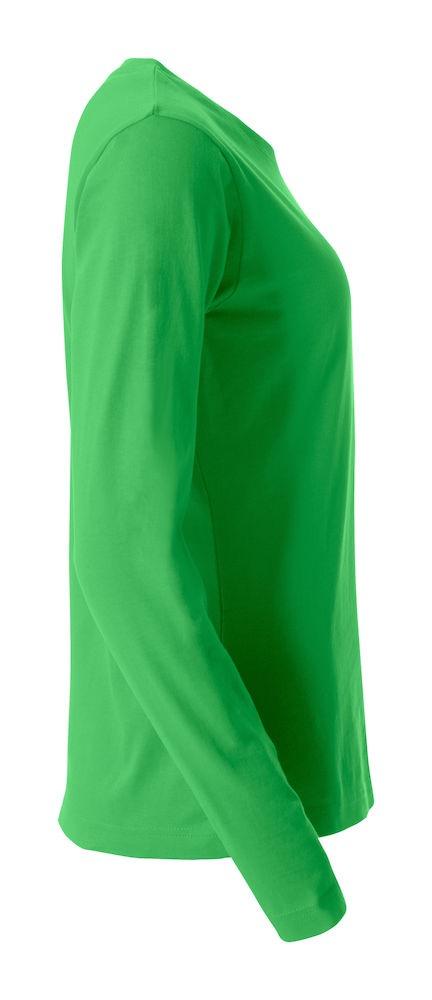 Clique Basic-T L/S Dam apple green