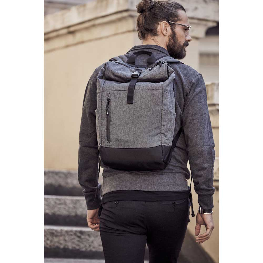 Clique Roll-Up Backpack antracitmelerad