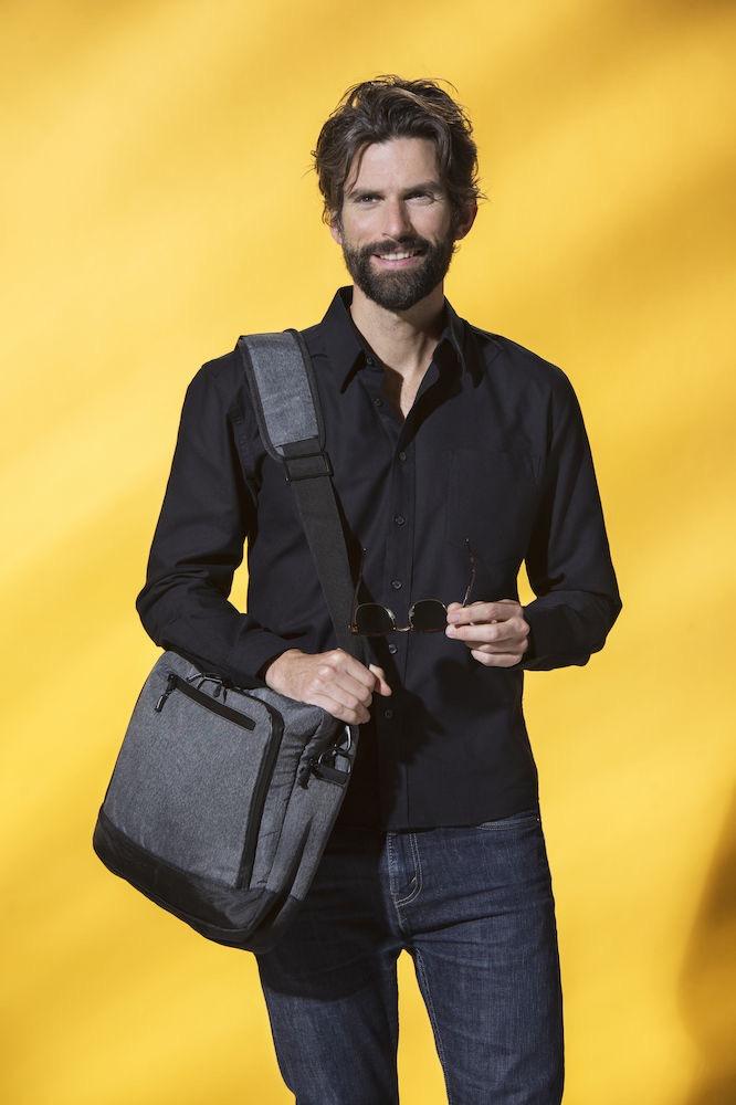 Clique Laptop Bag antracitmelerad