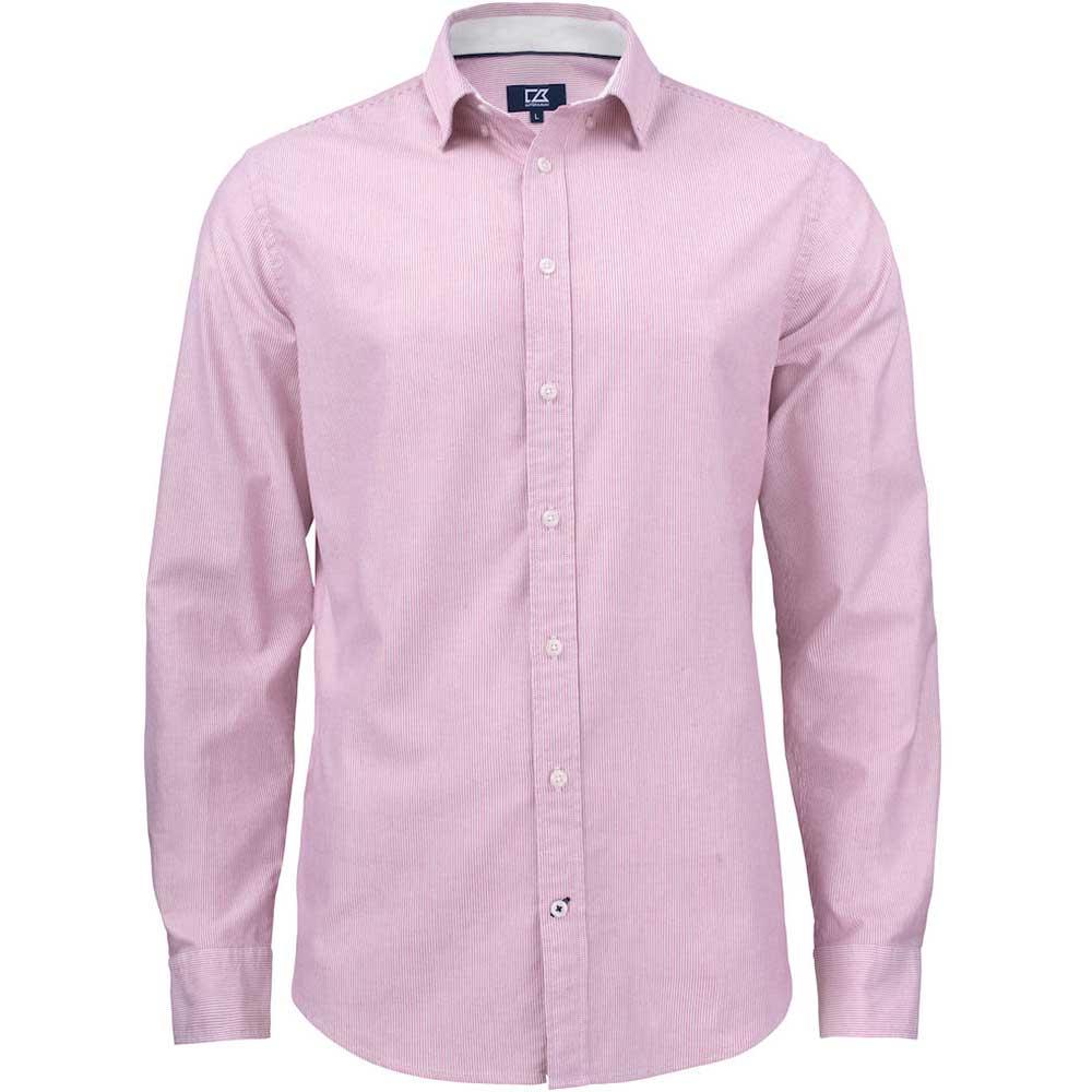 Belfair Oxford Shirt Herr Vinröd/Vit