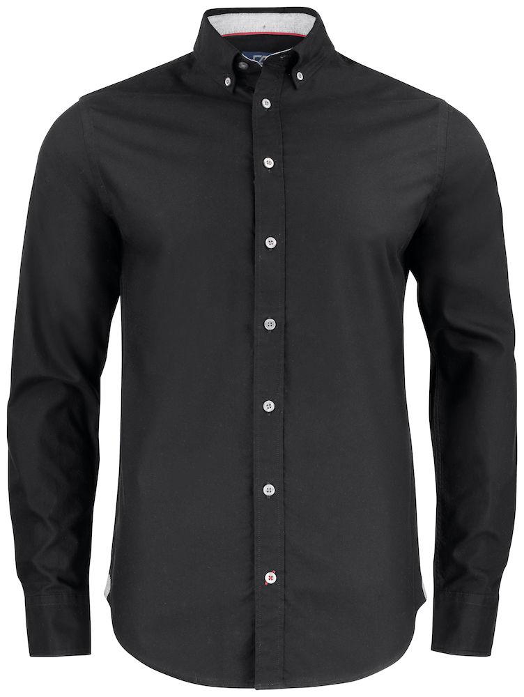Belfair Oxford Shirt Herr Svart