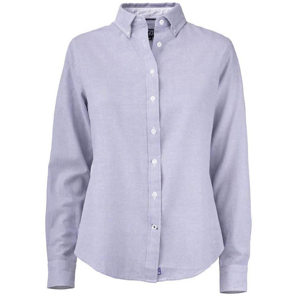 Belfair Oxford Shirt Dam French Blue/White Stripe