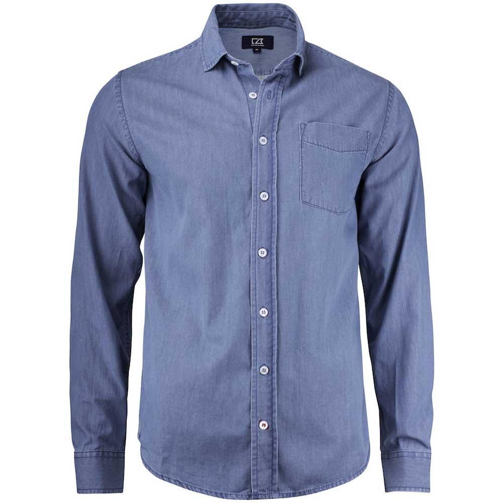Ellensburg Shirt Men Denimblå