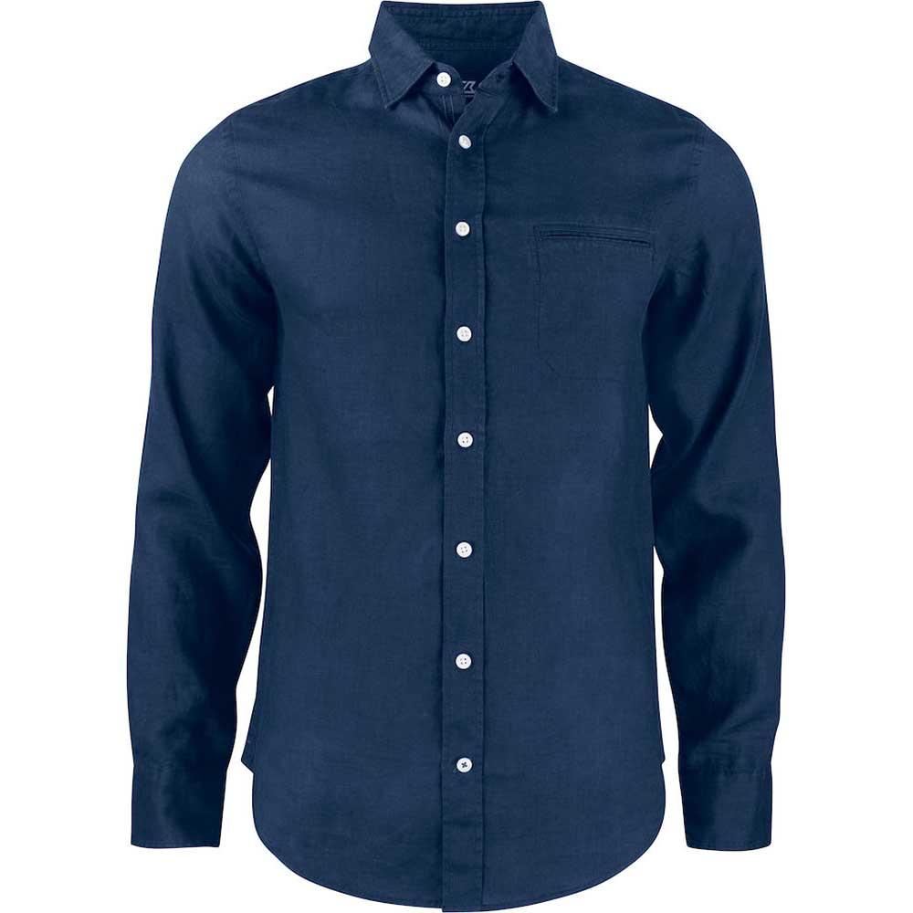 Summerland Linen Shirt Men Mörk marin