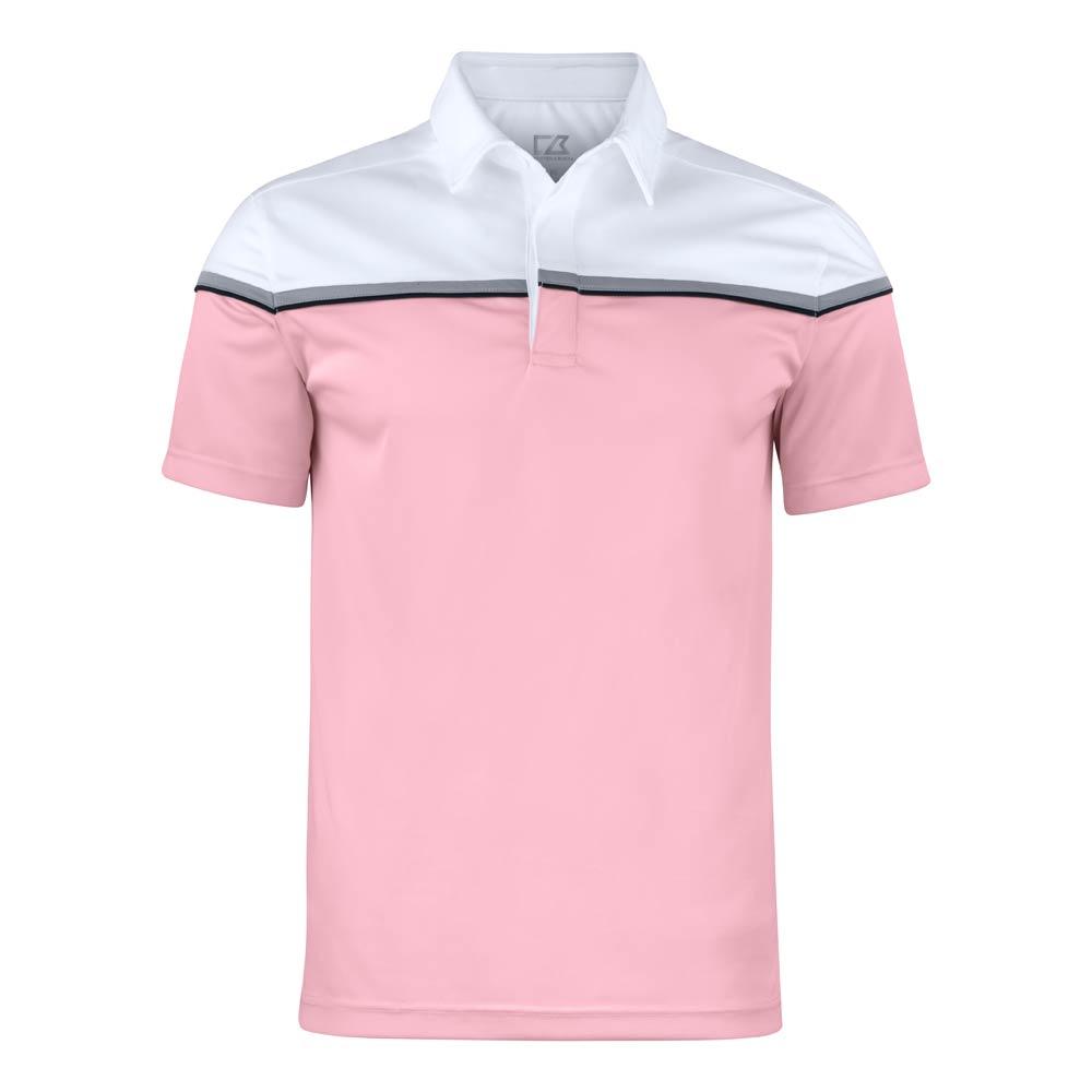 Seabeck Polo Men Black Pink/White