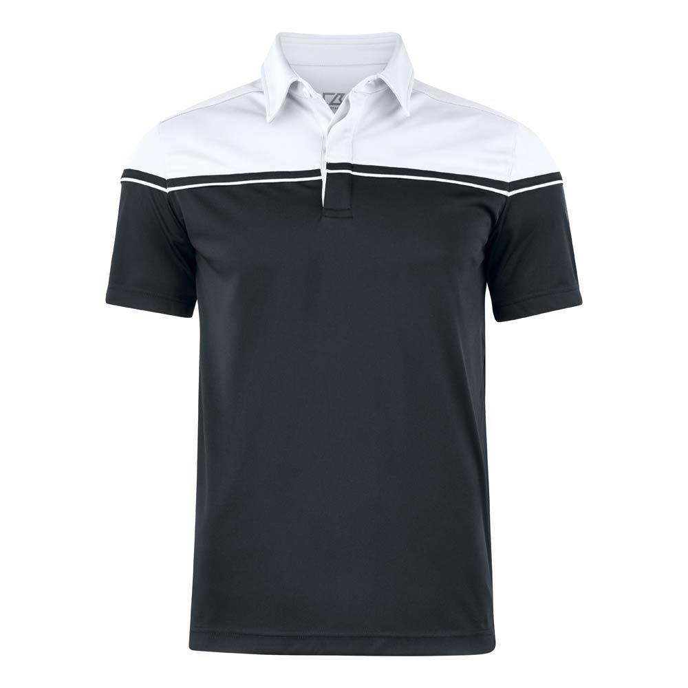 Seabeck Polo Men Black Black/White