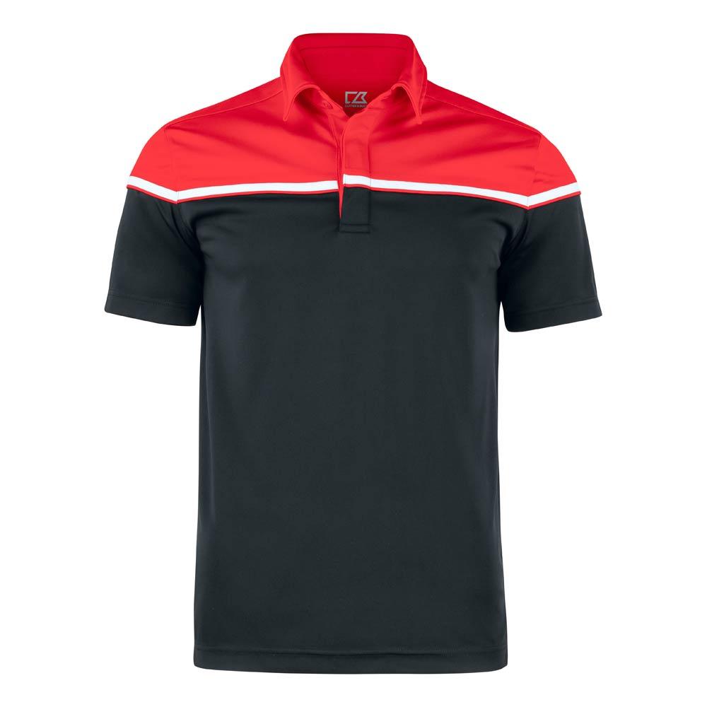 Seabeck Polo Men Black Black/Red