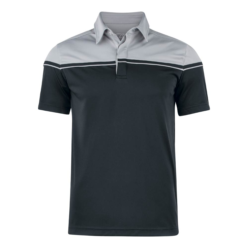 Seabeck Polo Men Black Black/Light Grey