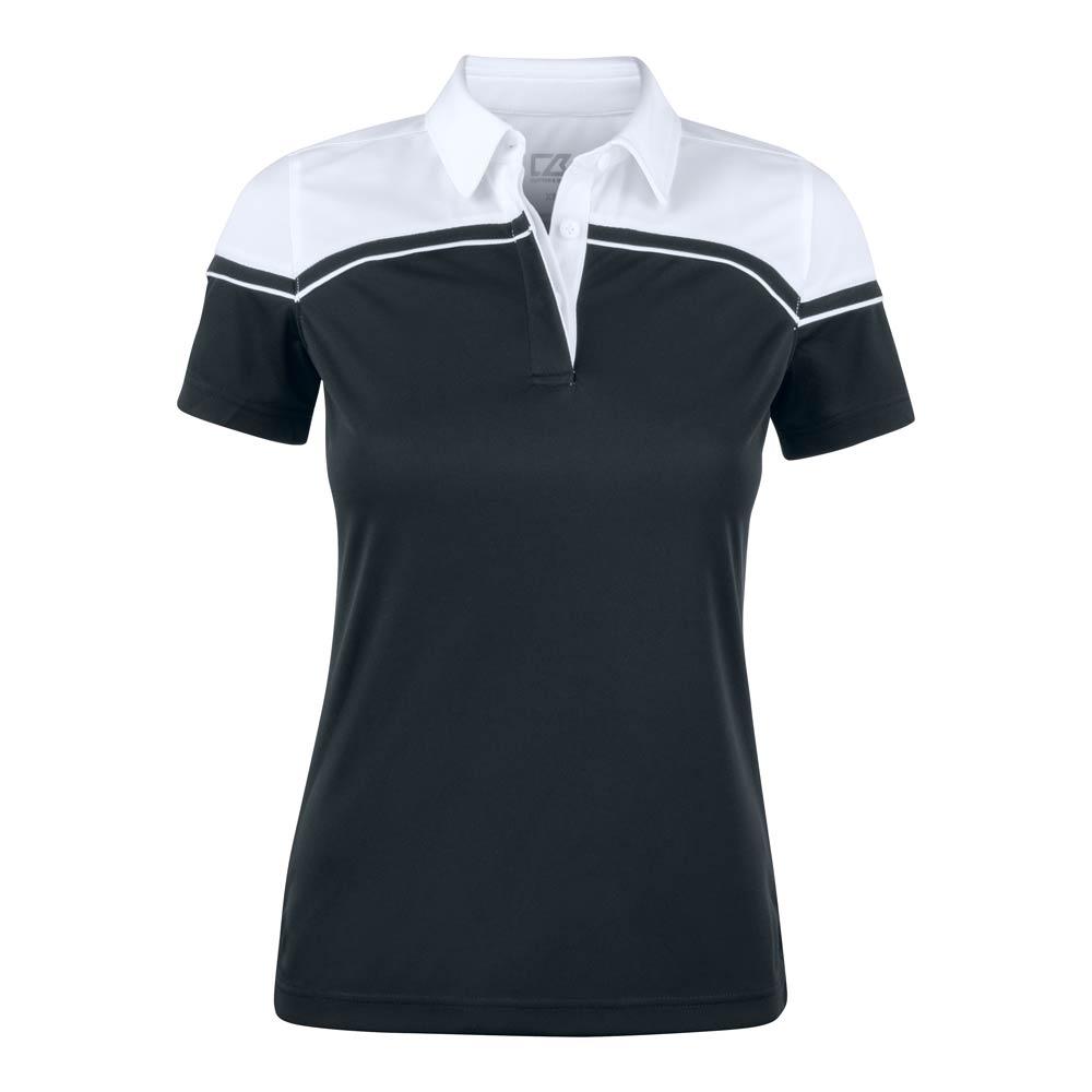 Seabeck Polo Ladies Black Svart/vit