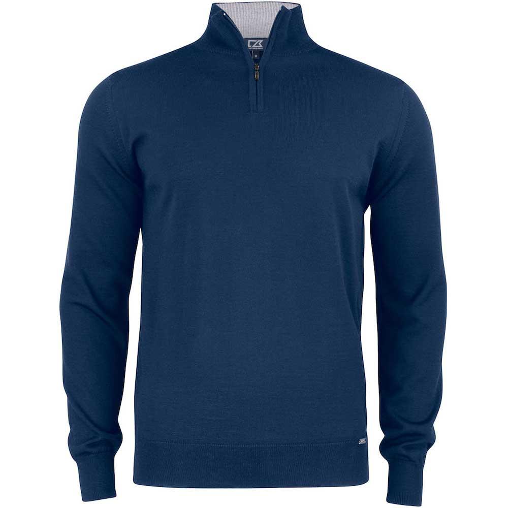Everett Half Zip Sweater C&B Mörk marin
