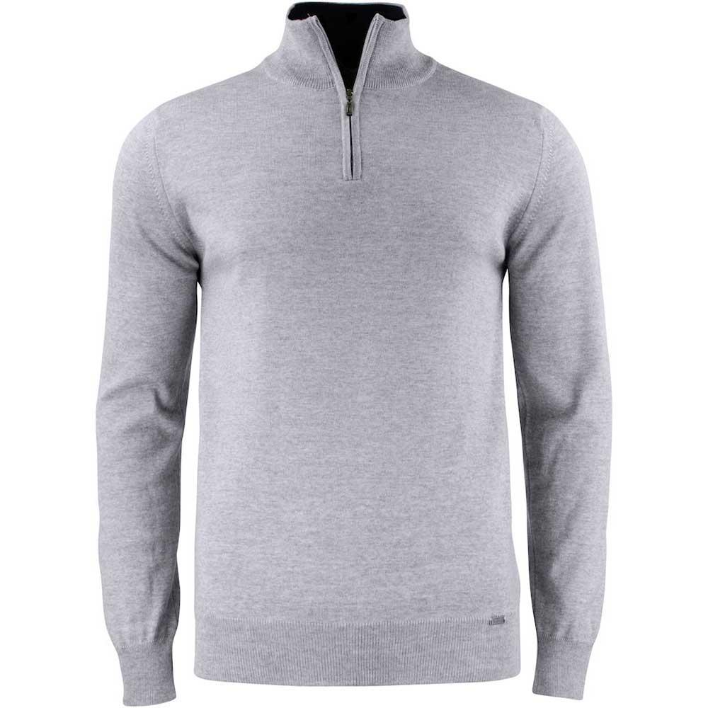 Everett Half Zip Sweater C&B Gråmelerad