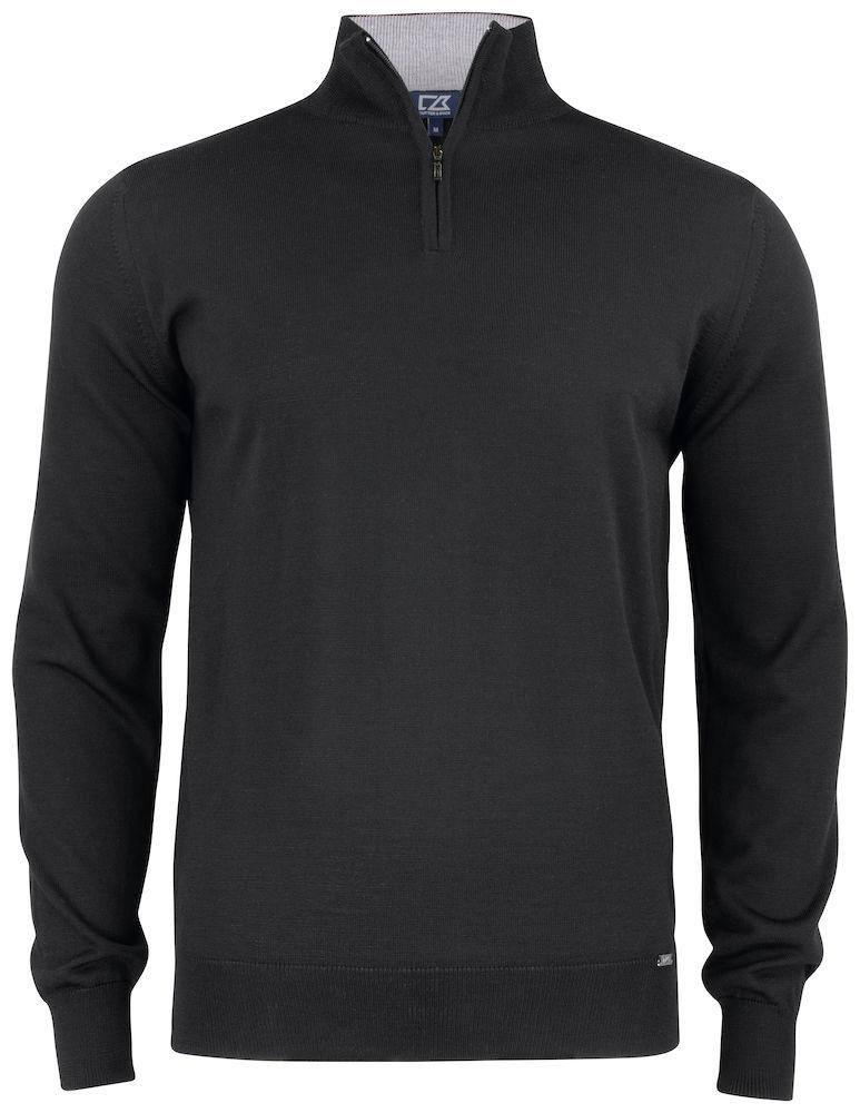 Everett Half Zip Sweater C&B Svart