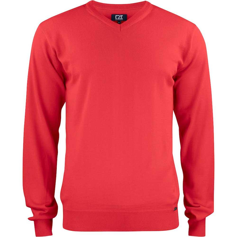 Everett V-neck Men Bright Red