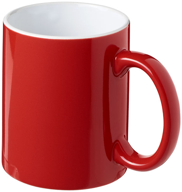 Mugg Java Röd, Vit
