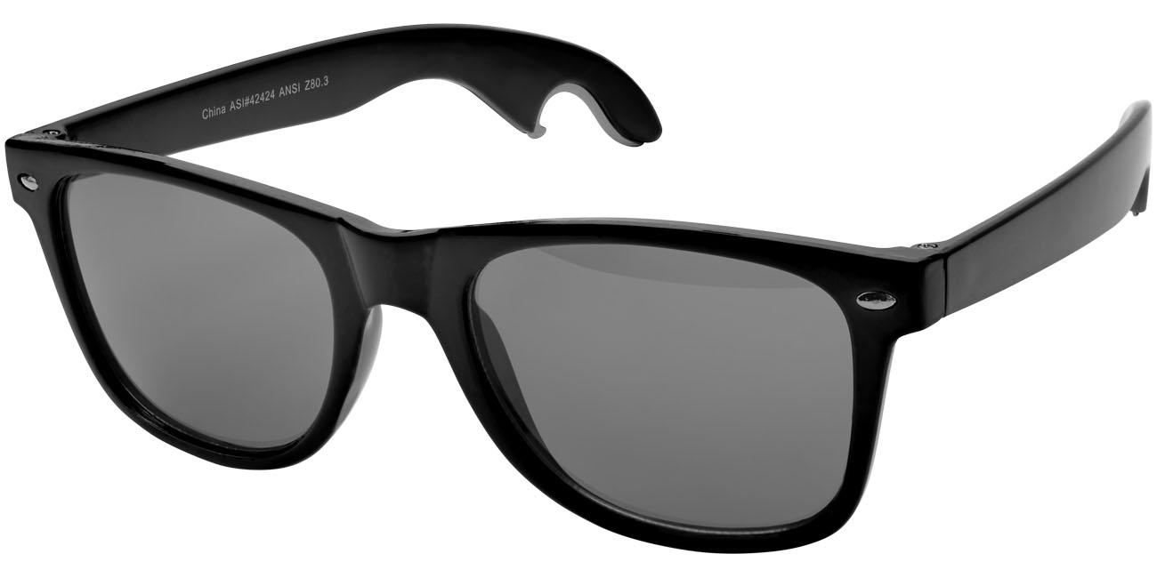 Solglasögon med öppnare Svart