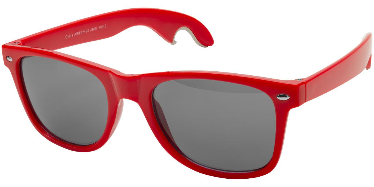 Solglasögon med öppnare Röd