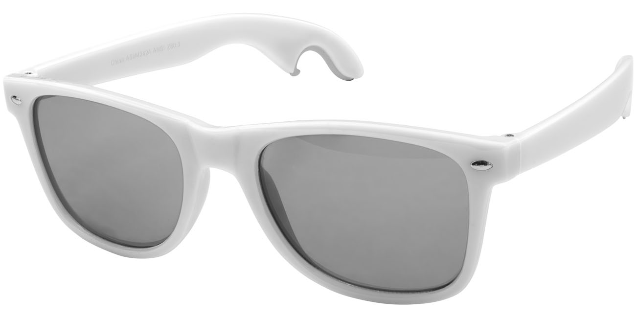 Solglasögon med öppnare Vit