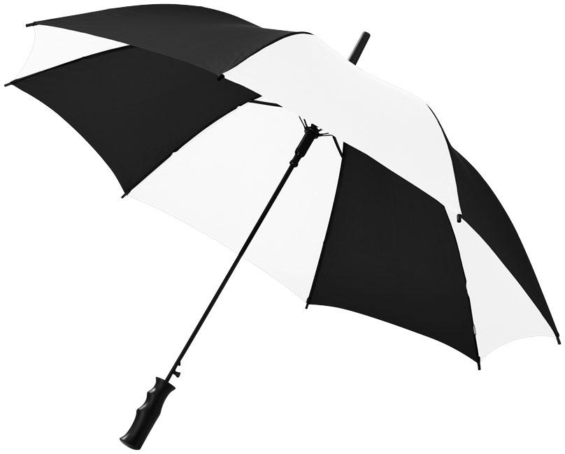 23''AutomaticUmbrella blank svart,vit