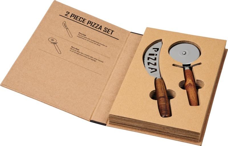 Reze 2-delars pizzaset natur